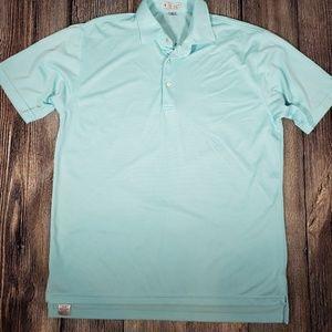 Peter Millar Medium golf shirt blue